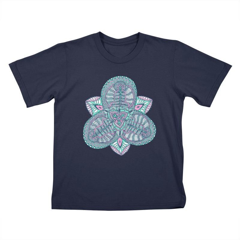Trikvetr-mandala pink-mint version Kids T-Shirt by ShadoBado Artist Shop
