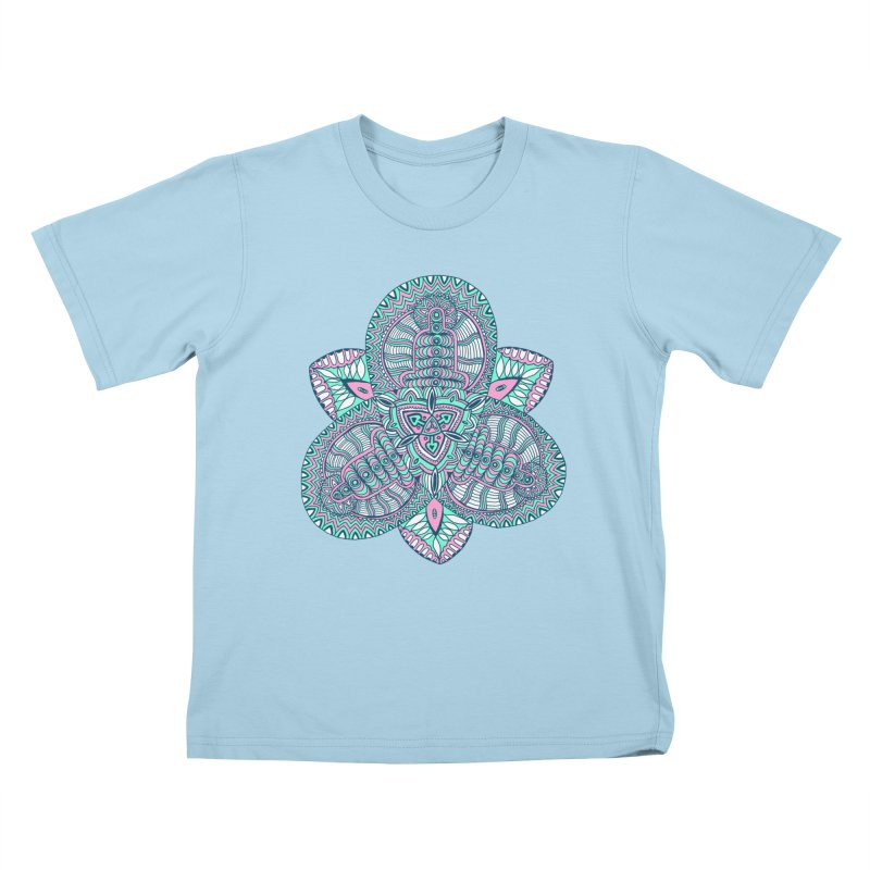 Trikvetr-mandala pink-mint version Kids T-Shirt by ShadoBado Artist Shop