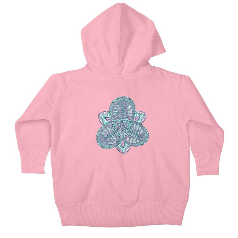 Trikvetr-mandala pink-mint version Kids Baby Zip-Up Hoody by ShadoBado Artist Shop