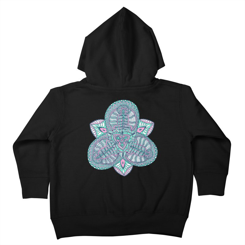 Trikvetr-mandala pink-mint version Kids Toddler Zip-Up Hoody by ShadoBado Artist Shop