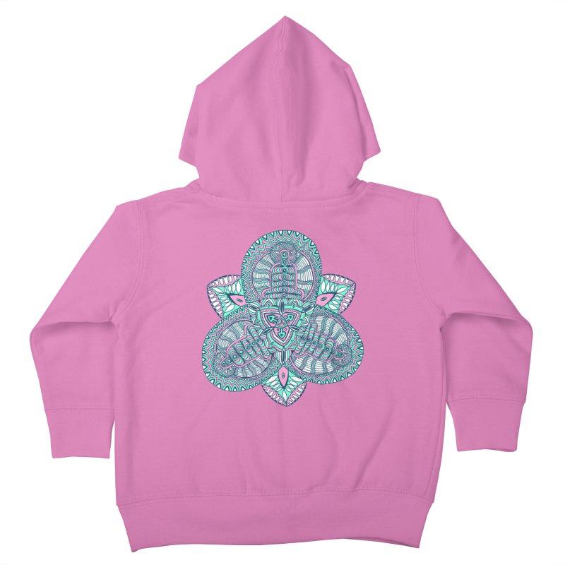 Trikvetr-mandala pink-mint version Kids Toddler Zip-Up Hoody by ShadoBado Artist Shop