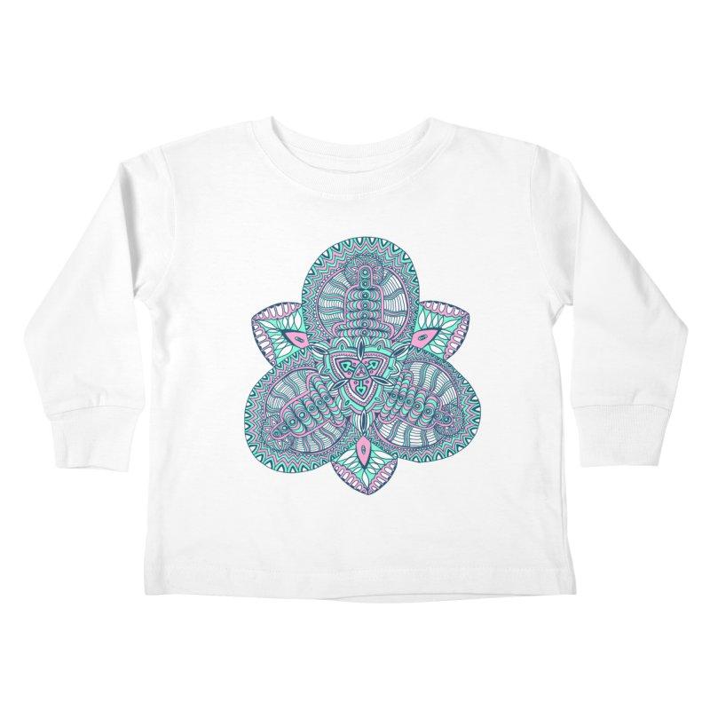 Trikvetr-mandala pink-mint version Kids Toddler Longsleeve T-Shirt by ShadoBado Artist Shop