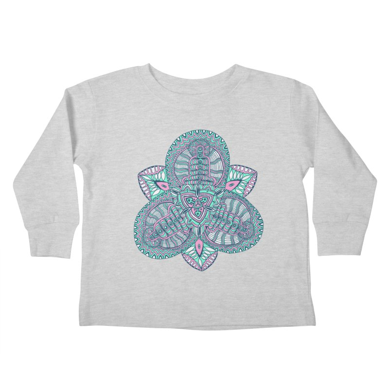 Trikvetr-mandala pink-mint version Kids Toddler Longsleeve T-Shirt by ShadoBado Artist Shop