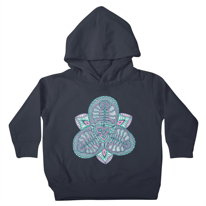 Trikvetr-mandala pink-mint version Kids Toddler Pullover Hoody by ShadoBado Artist Shop