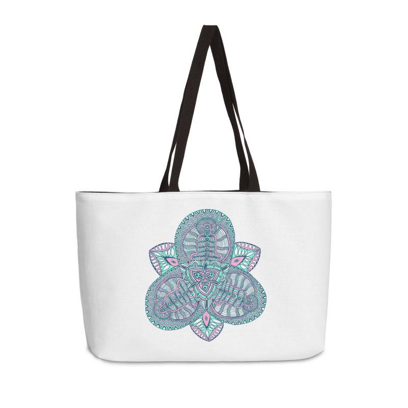 Trikvetr-mandala pink-mint version Accessories Weekender Bag Bag by ShadoBado Artist Shop