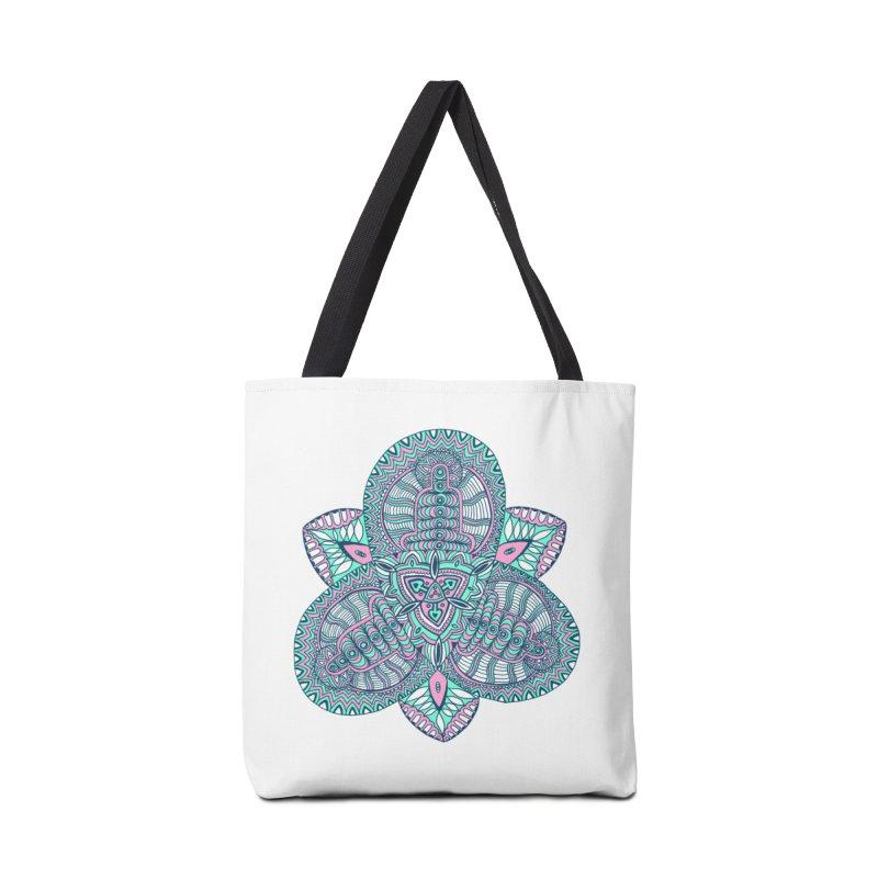Trikvetr-mandala pink-mint version Accessories Bag by ShadoBado Artist Shop