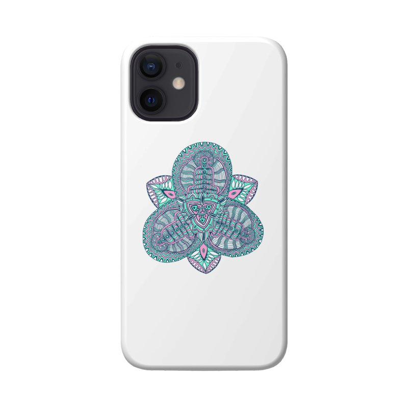Trikvetr-mandala pink-mint version Accessories Phone Case by ShadoBado Artist Shop