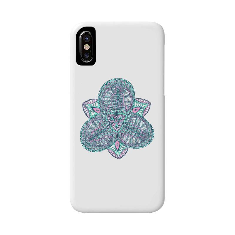 Trikvetr-mandala pink-mint version Accessories Phone Case by ShadoBado Artist Shop