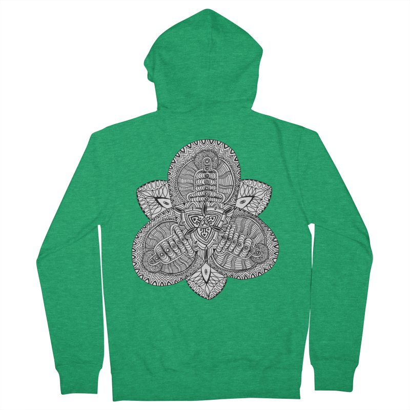 Trikvetr Women's French Terry Zip-Up Hoody by ShadoBado Artist Shop