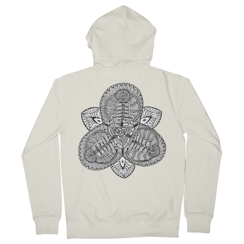Trikvetr Men's French Terry Zip-Up Hoody by ShadoBado Artist Shop
