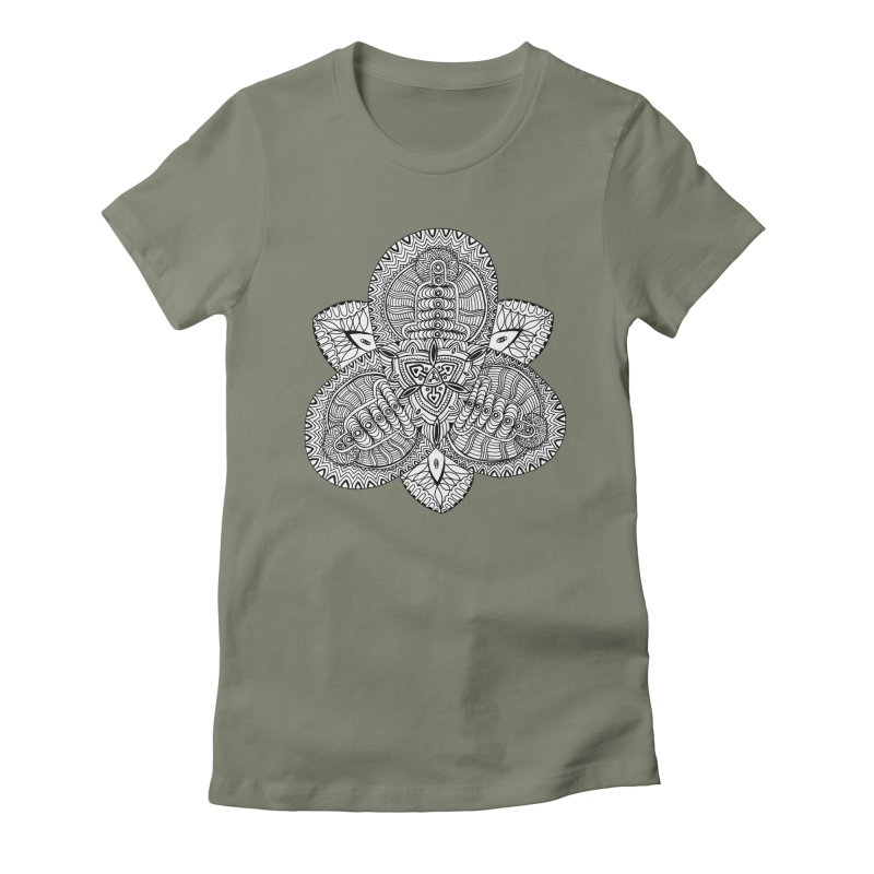 Trikvetr Women's Fitted T-Shirt by ShadoBado Artist Shop