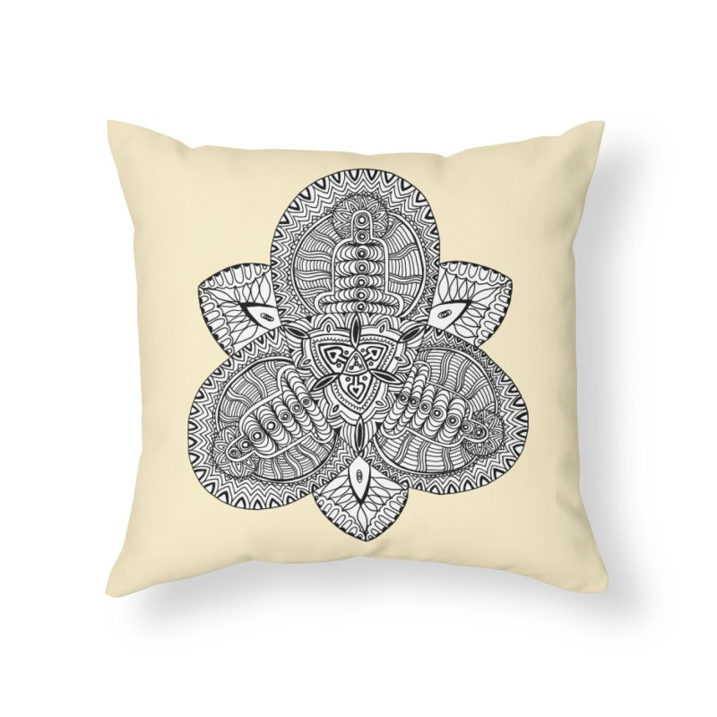 Trikvetr Home Throw Pillow by ShadoBado Artist Shop