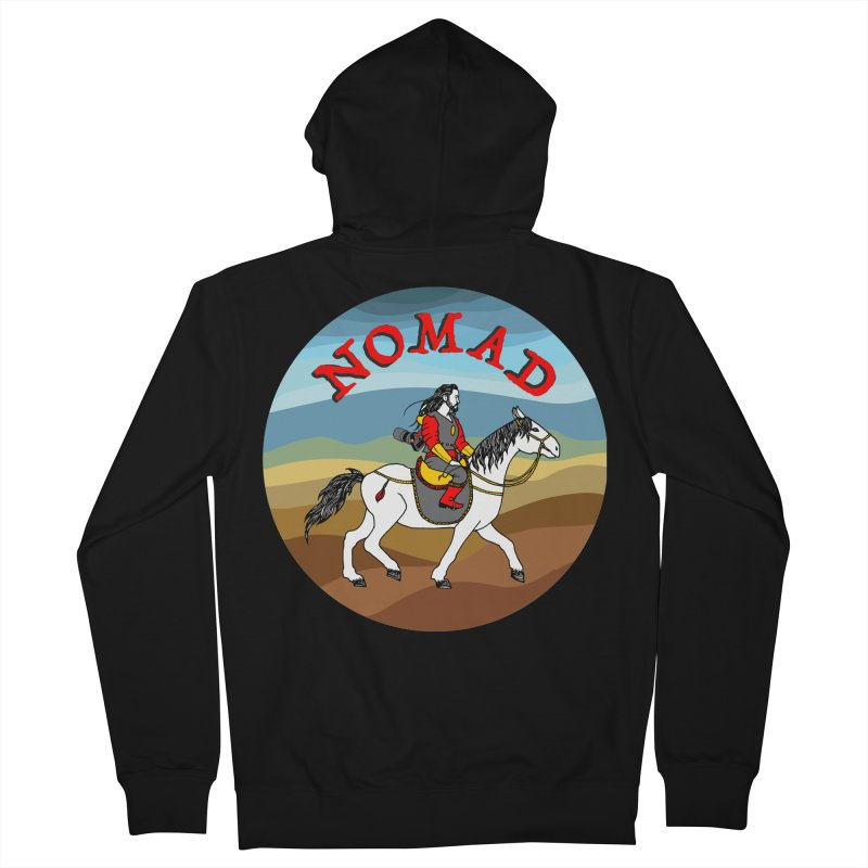 Modern nomad Men's French Terry Zip-Up Hoody by ShadoBado Artist Shop