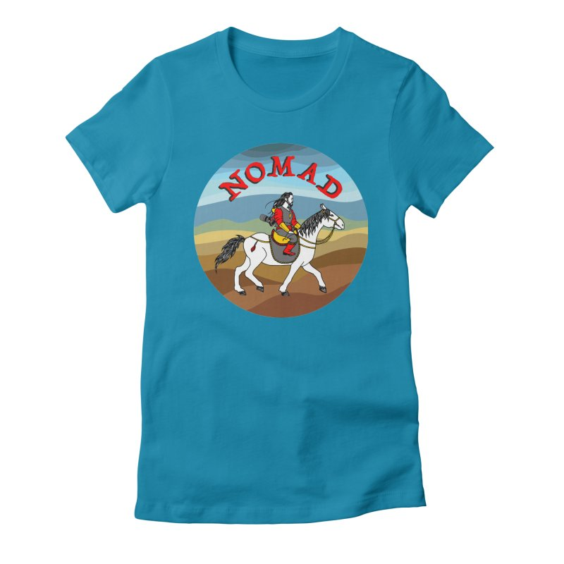 Modern nomad Women's Fitted T-Shirt by ShadoBado Artist Shop