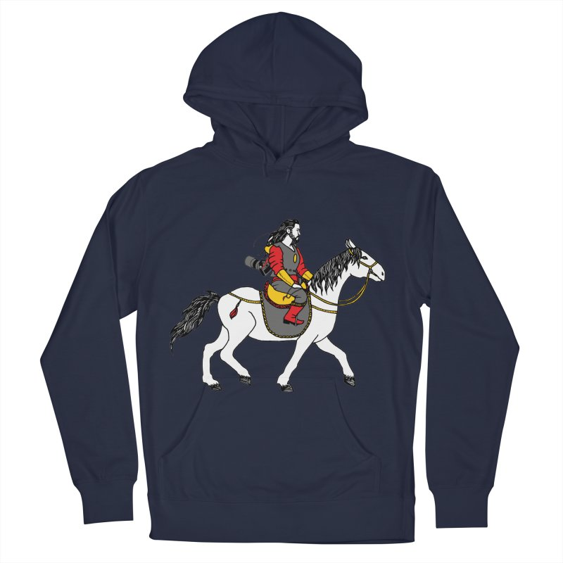 The rider Women's French Terry Pullover Hoody by ShadoBado Artist Shop