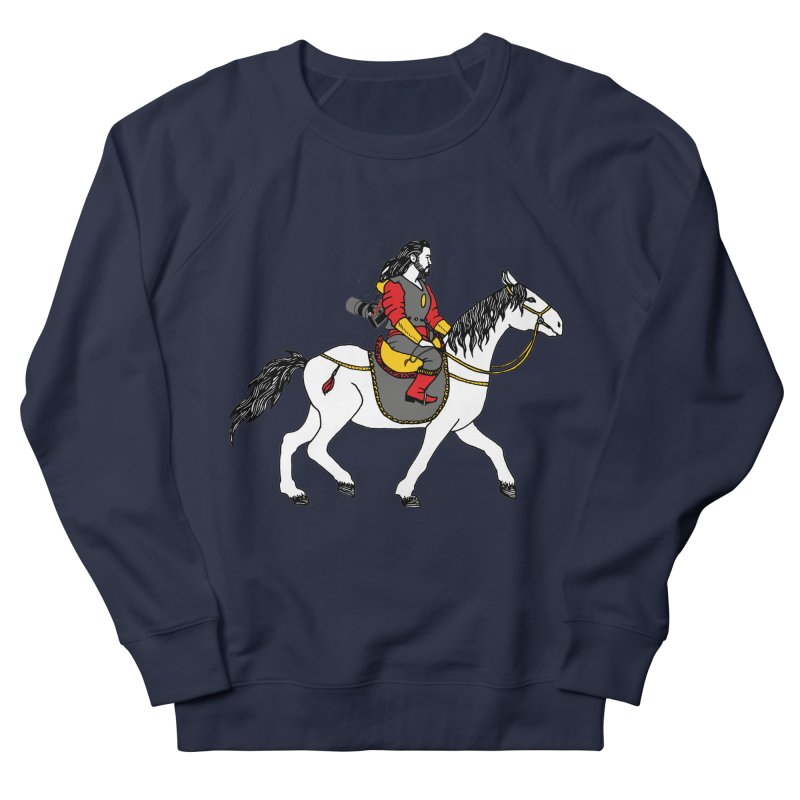 The rider Men's French Terry Sweatshirt by ShadoBado Artist Shop