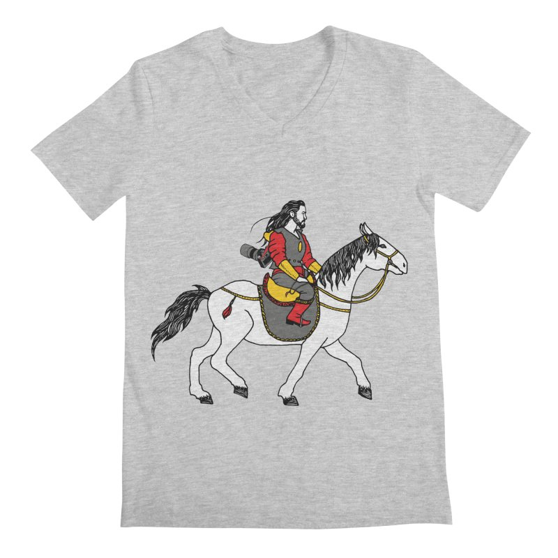 The rider Men's Regular V-Neck by ShadoBado Artist Shop