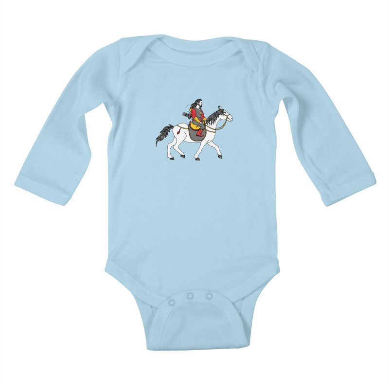 The rider Kids Baby Longsleeve Bodysuit by ShadoBado Artist Shop