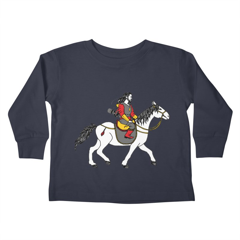 The rider Kids Toddler Longsleeve T-Shirt by ShadoBado Artist Shop
