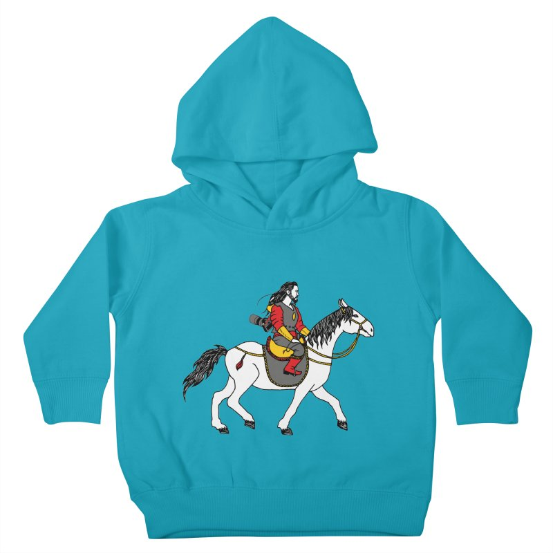 The rider Kids Toddler Pullover Hoody by ShadoBado Artist Shop