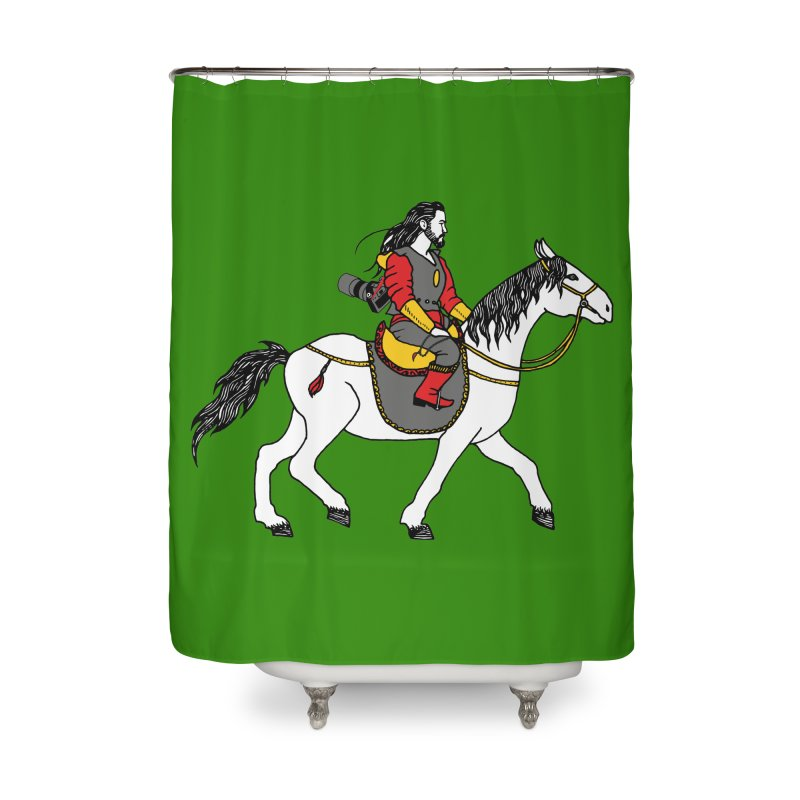 The rider Home Shower Curtain by ShadoBado Artist Shop