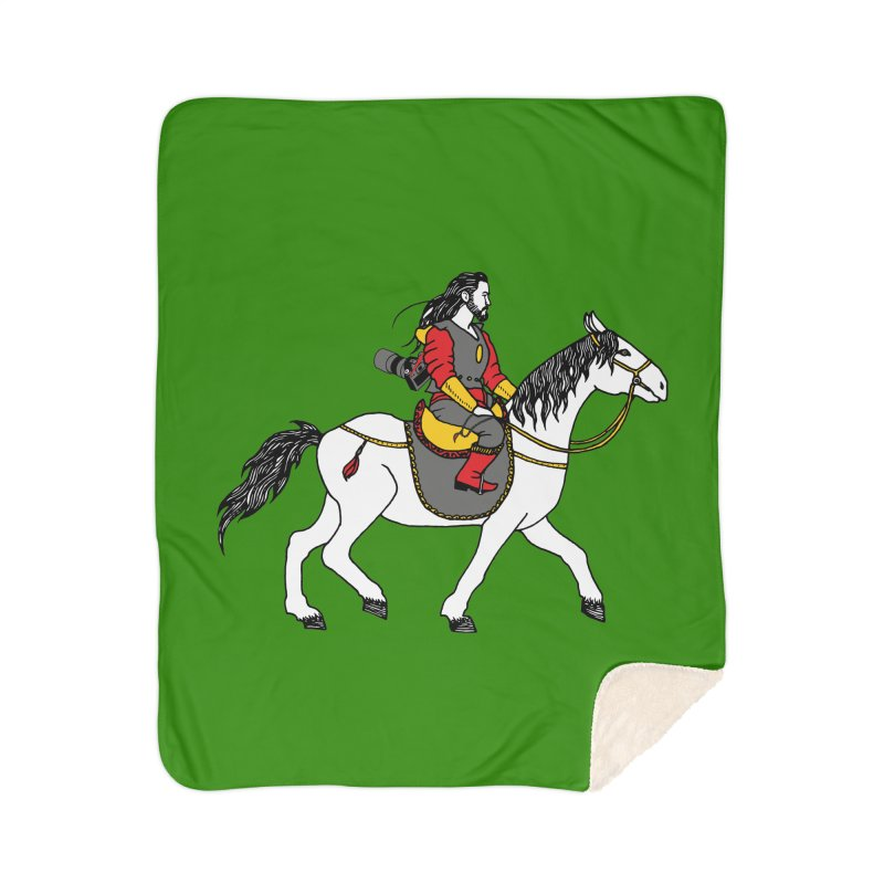 The rider Home Sherpa Blanket Blanket by ShadoBado Artist Shop