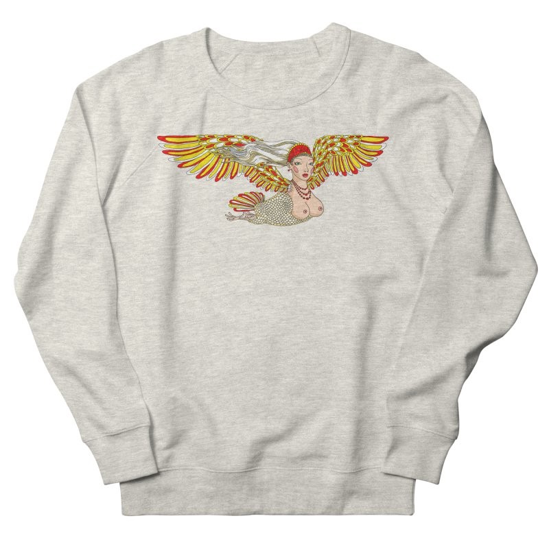 Alkonost Men's French Terry Sweatshirt by ShadoBado Artist Shop