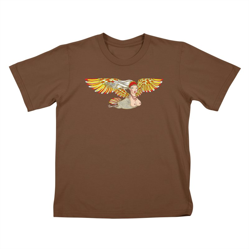 Alkonost Kids T-Shirt by ShadoBado Artist Shop