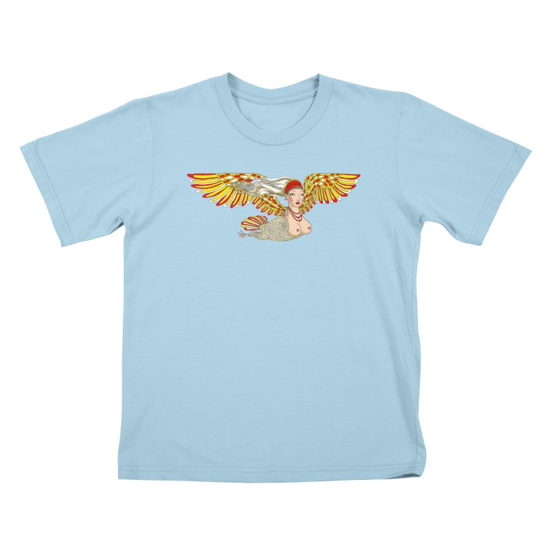 Alkonost Kids T-Shirt by ShadoBado Artist Shop