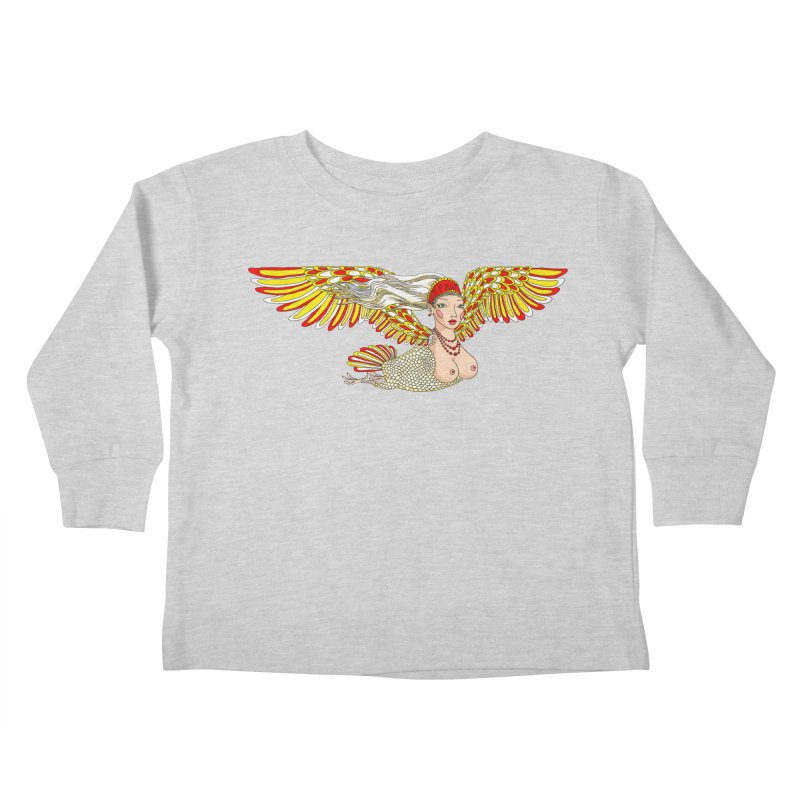 Alkonost Kids Toddler Longsleeve T-Shirt by ShadoBado Artist Shop