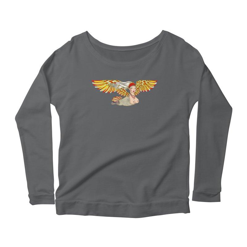 Alkonost Women's Scoop Neck Longsleeve T-Shirt by ShadoBado Artist Shop