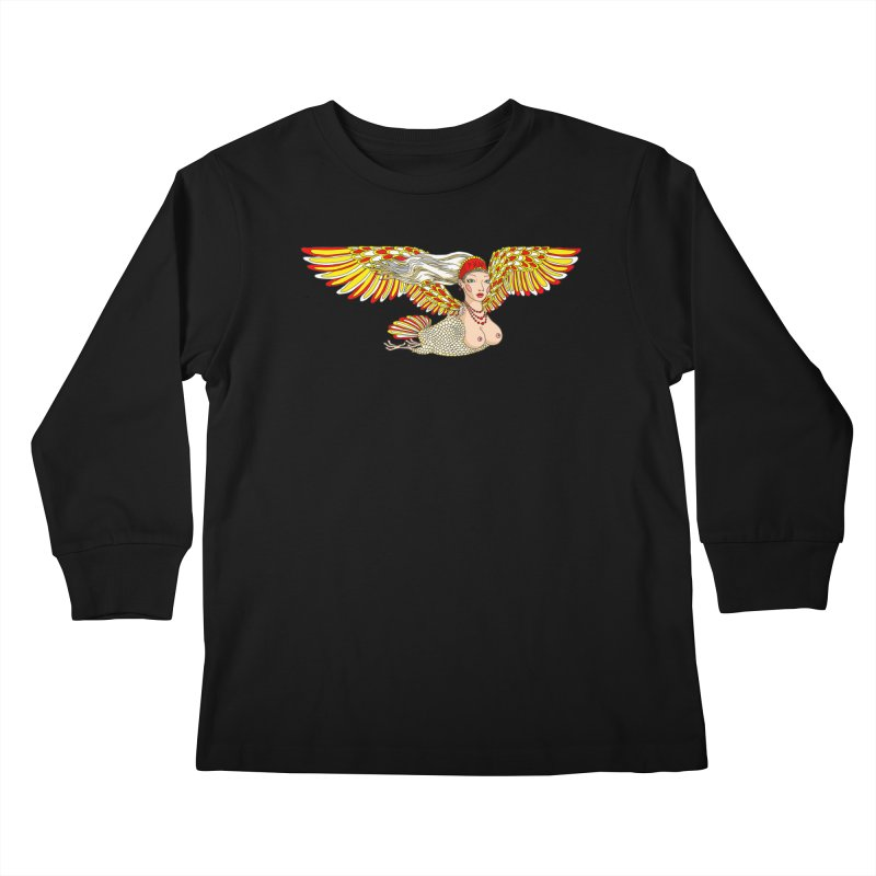 Alkonost Kids Longsleeve T-Shirt by ShadoBado Artist Shop
