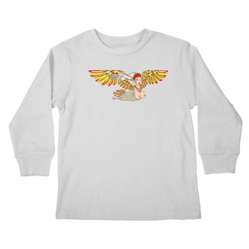 Alkonost Kids Longsleeve T-Shirt by ShadoBado Artist Shop