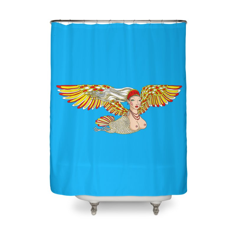 Alkonost Home Shower Curtain by ShadoBado Artist Shop