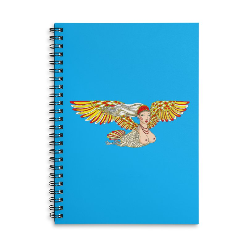 Alkonost Accessories Lined Spiral Notebook by ShadoBado Artist Shop
