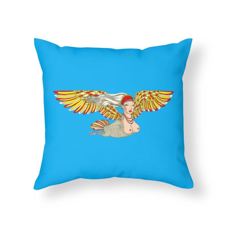 Alkonost Home Throw Pillow by ShadoBado Artist Shop