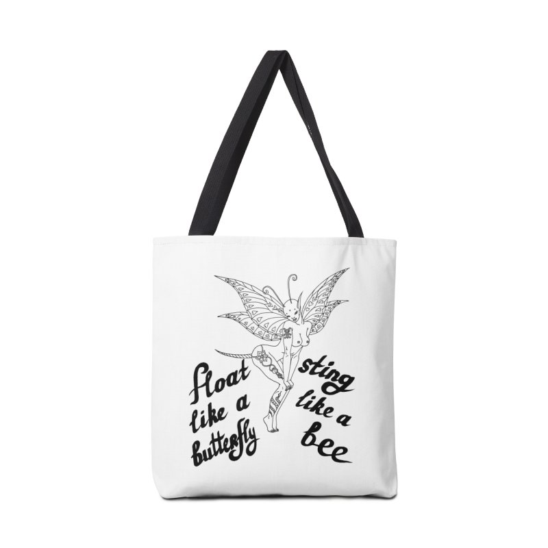 Float like a butterfly, sting like a bee Accessories Bag by ShadoBado Artist Shop