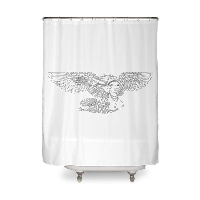 Alkonost Home Shower Curtain by ShadoBado Artist Shop