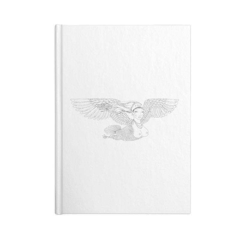 Alkonost Accessories Lined Journal Notebook by ShadoBado Artist Shop