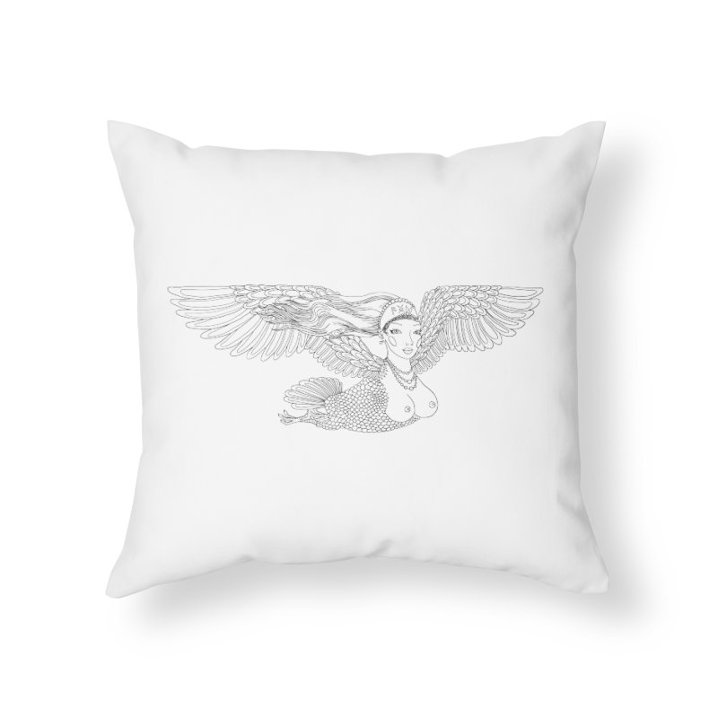 Alkonost Home Throw Pillow by ShadoBado Artist Shop