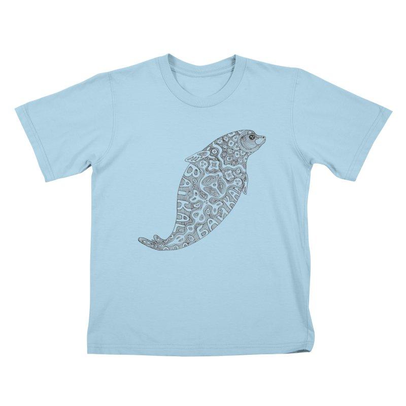 Coloring nerpa Kids T-Shirt by ShadoBado Artist Shop