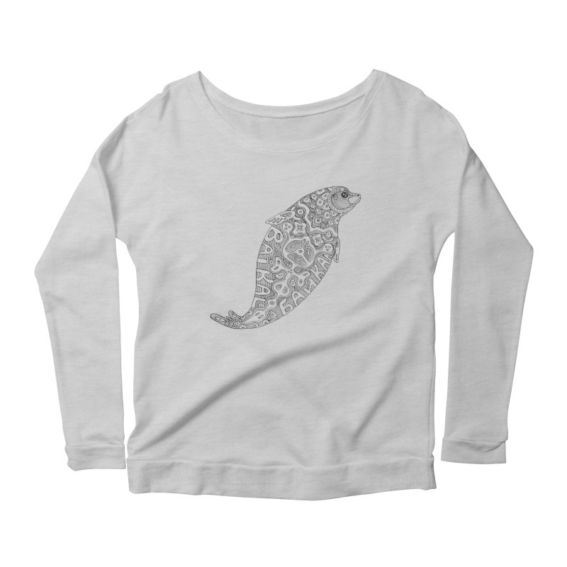 Coloring nerpa Women's Scoop Neck Longsleeve T-Shirt by ShadoBado Artist Shop