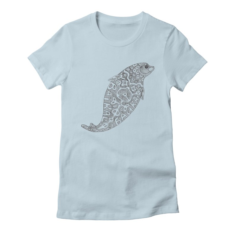 Coloring nerpa Women's T-Shirt by ShadoBado Artist Shop