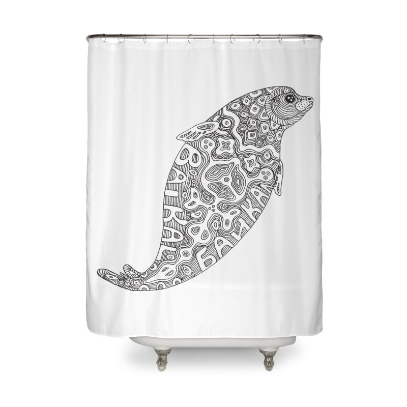 Coloring nerpa Home Shower Curtain by ShadoBado Artist Shop
