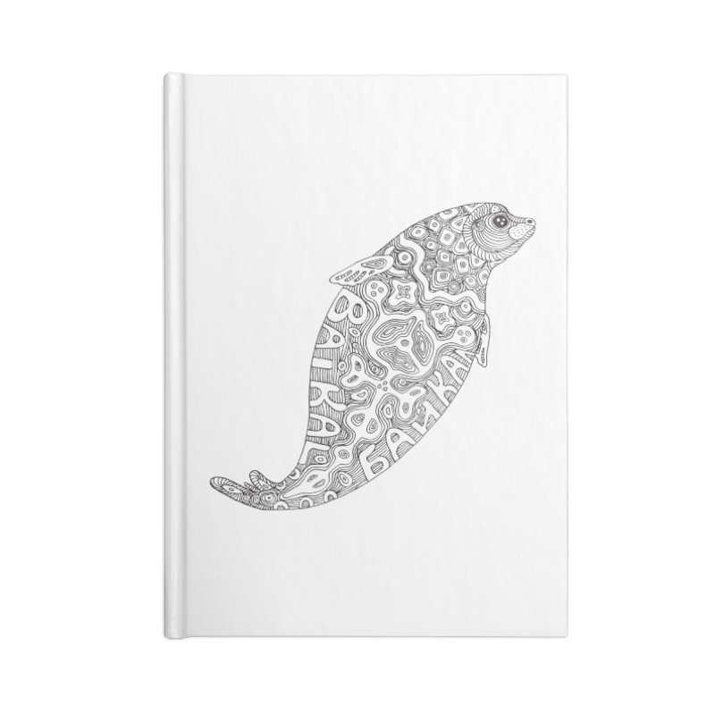 Coloring nerpa Accessories Lined Journal Notebook by ShadoBado Artist Shop