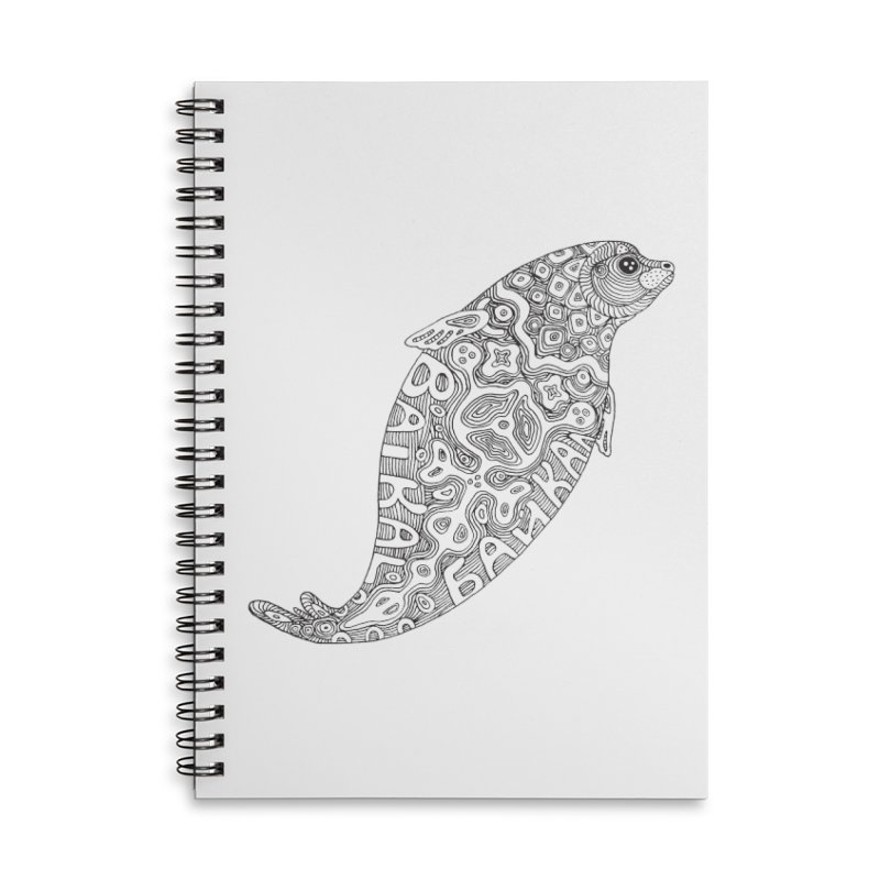 Coloring nerpa Accessories Lined Spiral Notebook by ShadoBado Artist Shop