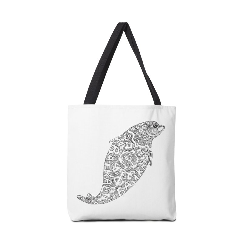 Coloring nerpa Accessories Tote Bag Bag by ShadoBado Artist Shop