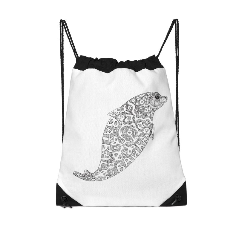 Coloring nerpa Accessories Drawstring Bag Bag by ShadoBado Artist Shop
