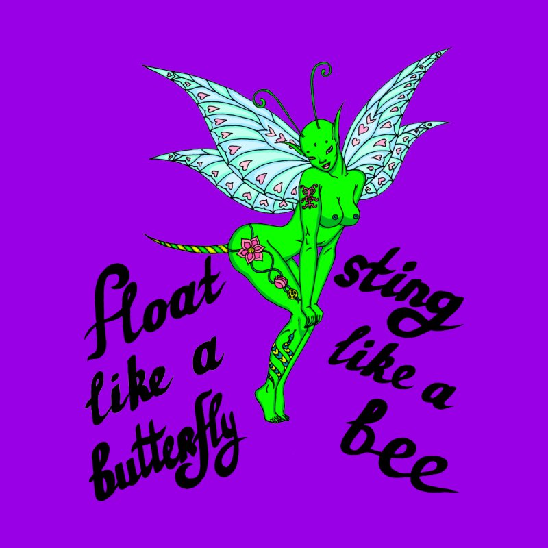 Float like a butterfly, sting like a bee None  by ShadoBado Artist Shop