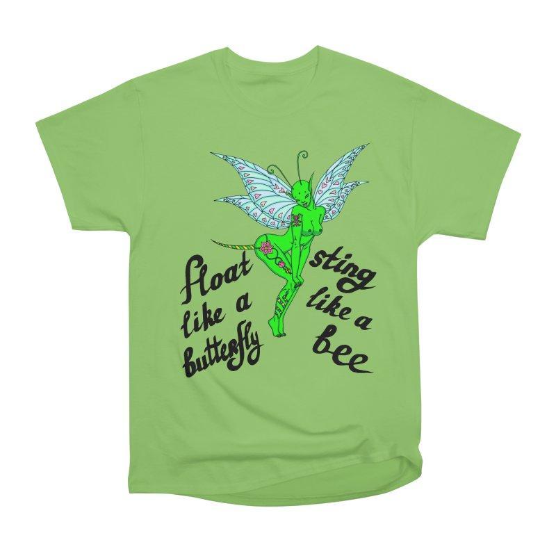 Float like a butterfly, sting like a bee Men's Heavyweight T-Shirt by ShadoBado Artist Shop